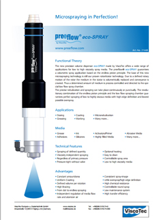 preeflow eco-SPRAY Datasheet