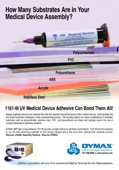 DYMAX 1161-M Medical Device Adhesive