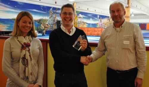Intertronics receiving the award