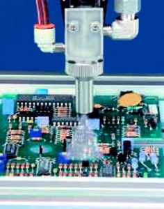 Dispensing of coating onto PCB