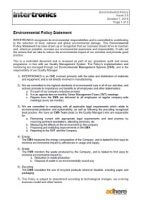 download intertronics environmental policy