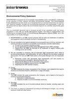 download intertronics environmental policy