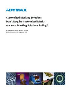 Dymax masking solutions