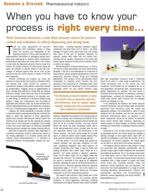 Industrial Technology flowplus article March 2014