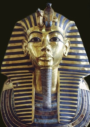 The burial mask of King Tutankhamun