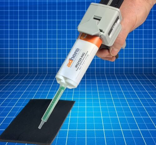 IRS 2129 rubber modified epoxy adhesive from Intertronics for the bonding of dissimilar materials