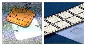 Flexible electrically conductive adhesive for smart cards