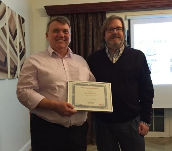 Paul Whitehead celebrates 25 years with INTERTRONICS