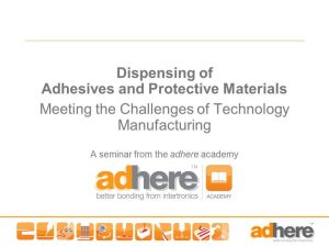 In-house Seminar - Adhesives and Protective Materials Dispensing
