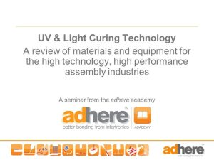In-house Seminar - UV and Light Curing Technology