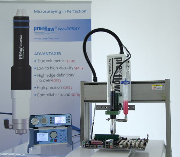 high precision volumetric spray dispensing system