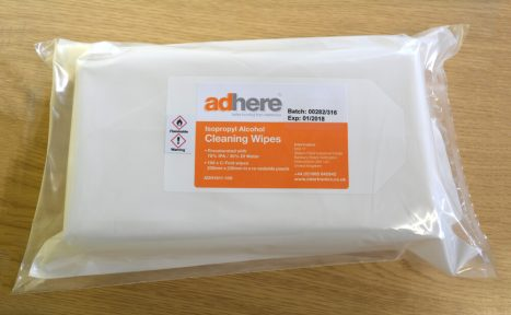 ADH 1610 and ADH 1611 IPA Isopropyl Alcohol Wipes, Cleaning