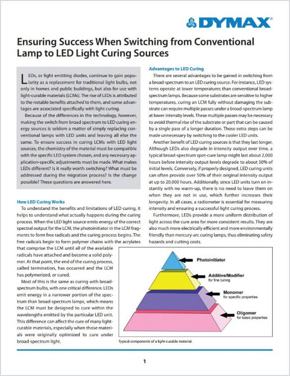 Ensuring Success When Switching from Conventional Lamp to LED Light-Curing Sources