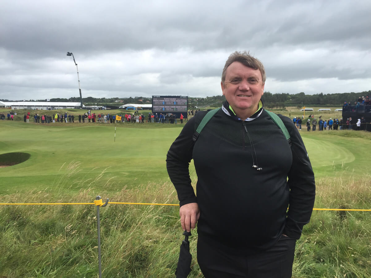 Paul on the 5th green at The-Open, Royal Troon