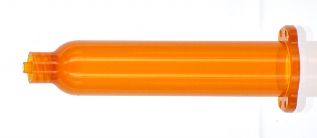 QuantX dispensing consumables syringe barrel amber
