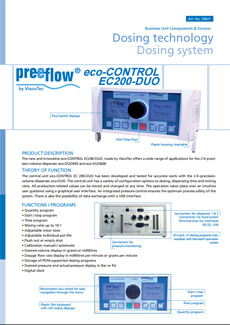 preeflow ecoDUO controller datasheet