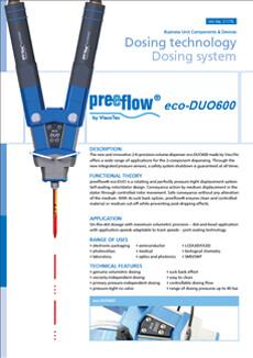 preeflow ecoDUO600 datasheet