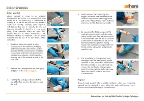 Instructions for adhesives - double syringe cartridges