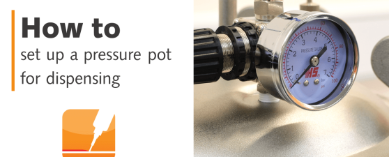 How to set up a pressure pot for dispensing