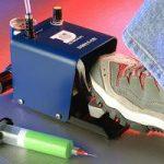 IJF DB815 Foot valve dispenser in use