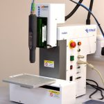 PZ2-i mounted on F4200N benchtop dispensing robot