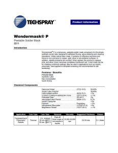 Techspray TEC2211 Wondermask P product data sheet