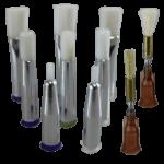 Fisnar brush dispensing tips