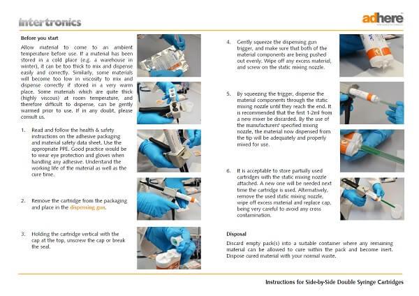 double syringe cartridge instructions