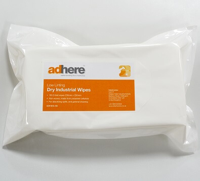 Low lint dry industrial wipes