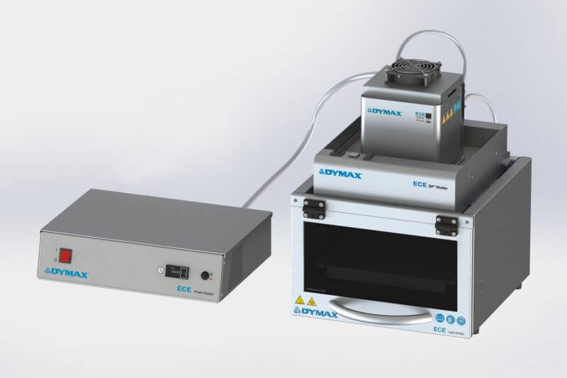 Bonding polycarbonate using uv curing flood lamp system