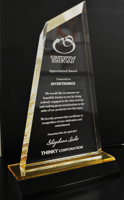 Thinky Appreciation Award