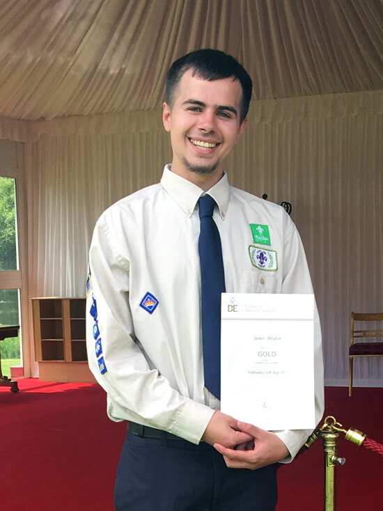 James with his Duke of Edinburgh Gold award