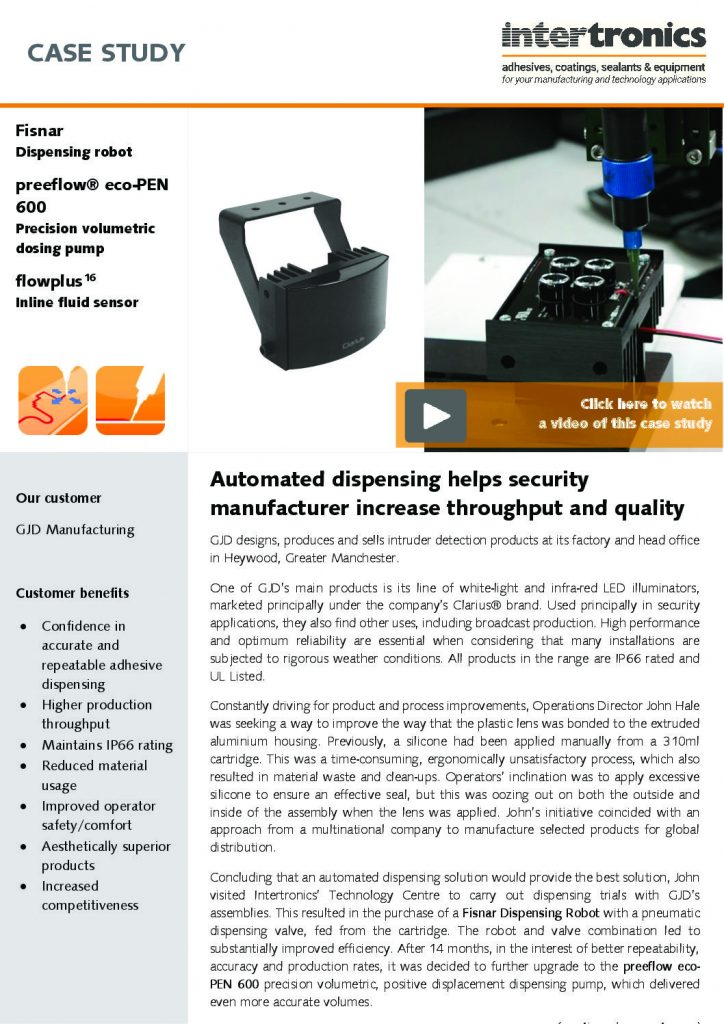 Automated dispensing helps security manufacturer increase throughput and quality