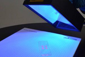 Fluorescing material IUV6LF