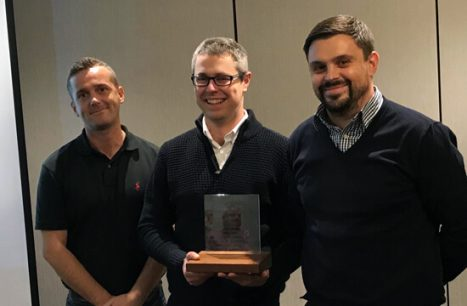 Intertronics technical team with Award for Excellence