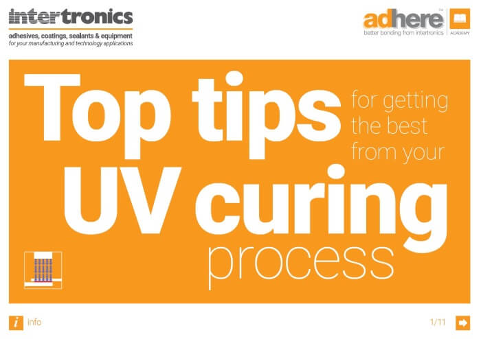 Top Tips for Getting the Best from your UV Curing Process