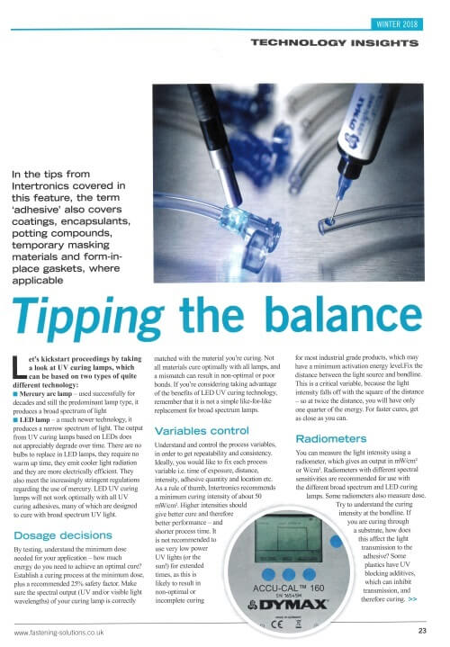 FAST magazine article - Tipping the Balance