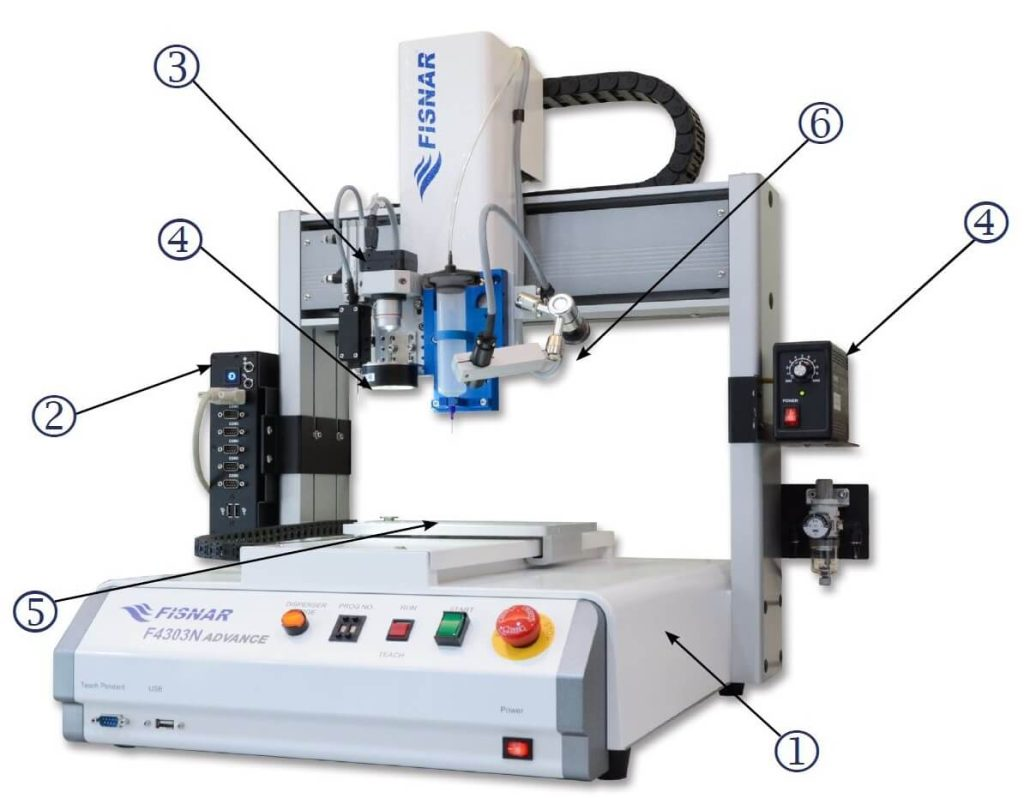 Camera Vision System for Fisnar ADVANCE Series Dispensing Robots
