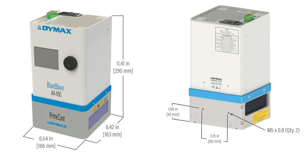 Dymax AX-550 dimensions