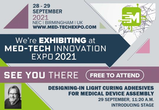 We're exhibiting and speaking at Med-Tech Innovation Expo - click here to register