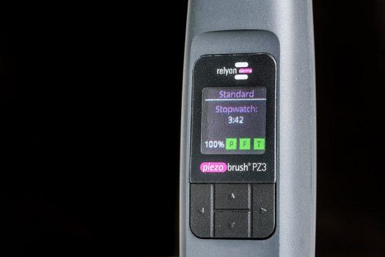 piezobrush PZ3 control panel